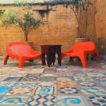 Bohemian style lounging on the rooftop of Riad Tizwa Marrakech