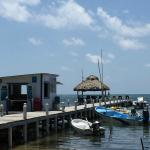 The dock in front of hotel and water sports office