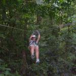 Ziplining is one of many activities to choose from. All booked at the hotel.