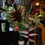 Beautiful flowers adorn this property as seen in this bouquet.