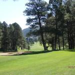 While Playing on #9, A View of the Hotel