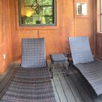 Screened in porch area of your room