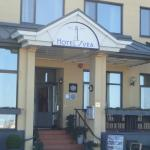 Hotel entrance opposite the harbour