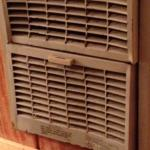 The filthy wall heater.