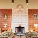 The fireplace in the Great Hall