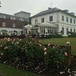 View of the hotel from the rose garden.