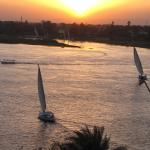 sunset on the Nile at Steigenberger