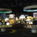 Inside the exhibition hall