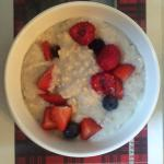 Stoat's Oats with fresh berries