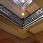 View from the grand staircase to the skylight