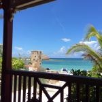 Caribbean Blue:  The view from Stew Fish at lunch