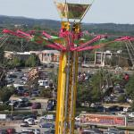 Swinging above the fair grounds