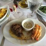 Steak and lobster tail - both excellent