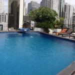 Loved that quiet rooftop pool