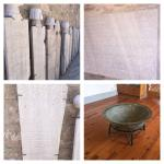Old objects and inscriptions in Greek and Arabic and Persian languages
