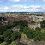 The view of the hotel from Edinburgh Castle