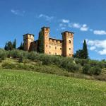 Sunny view of the Castello Delle Quattro Torre