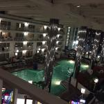 Night Time view of the pool on the 5 th floor