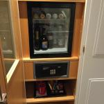 In-room bar and safe