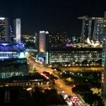 Singapore's Lights from the Club Lounge