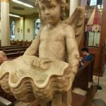 Holy Water Font in New Orleans Cathedral, LA
