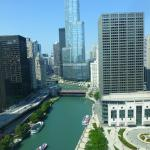 View of Chicago River and buildings