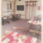 Newly refurbished dining area. Looking good.. plus new 21 inch flat screen TVs with built in fre