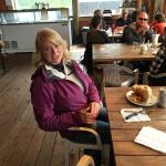 Our wonderful guide Michele at Carcross!