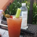 a nice bloody marry at the pool