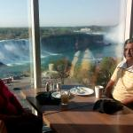 breathtaking view of the falls fr the breakfast table