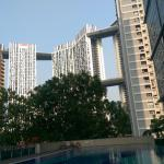 View from pool area