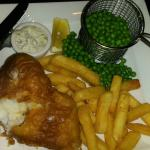 Cod & Chips in the hotel bar