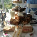 Afternoon tea. The 2 tier stand is 1x afternoon tea.