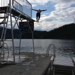 Hotel Diving Board - into Lake