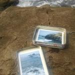 Making Polaroids down at the sea shore.