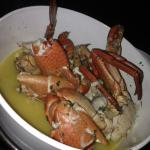 Ginger crab- watery sauce, lacking in flavour!