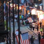Street Scene on Bourbon Street - View from the Room