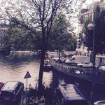 The view from room 14, overlooking the canal to the side