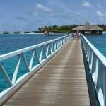 The bridge where you use to go to the main island and itha restaurant