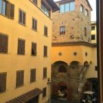 View from our room looking toward the Ponte Vecchio
