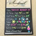 Example of temperatures - August 24-26