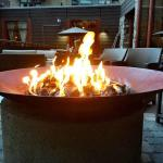 Fire Pits all over the outdoor seating areas!