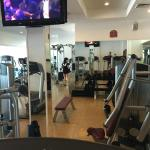 Hotel gym that was usually pretty busy!