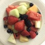 - DELICIOUS and fresh fruit plate ordered from room service.