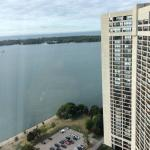 Lake Ontario and Toronto Islands seen from the room