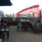 Outdoor seating at Brooklyn Resturant