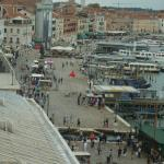 View from Doge's Palace to the hotel which can be seen near the top of the photograph - very clo