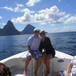 Speed boat tour - PITONS!