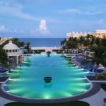The main pool at the Iberostar Grand Paraiso-- reserved for Grand guests.