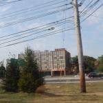 Hotel from across highway